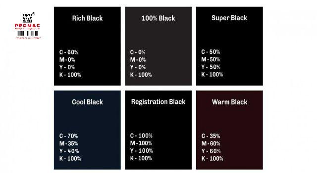 màu đen trong in ấn