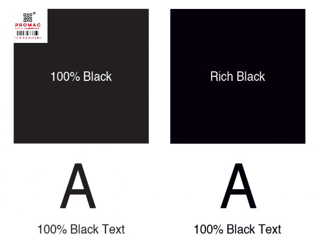 rich black màu đen trong in ấn