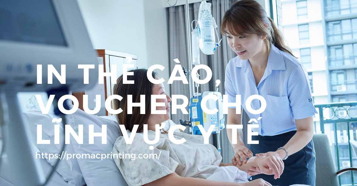 In thẻ cào voucher cho lĩnh vực y tế