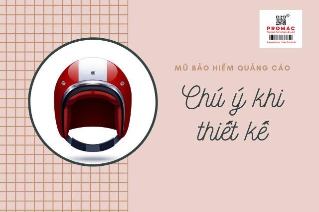 thiết kế mũ bảo hiểm quảng cáo