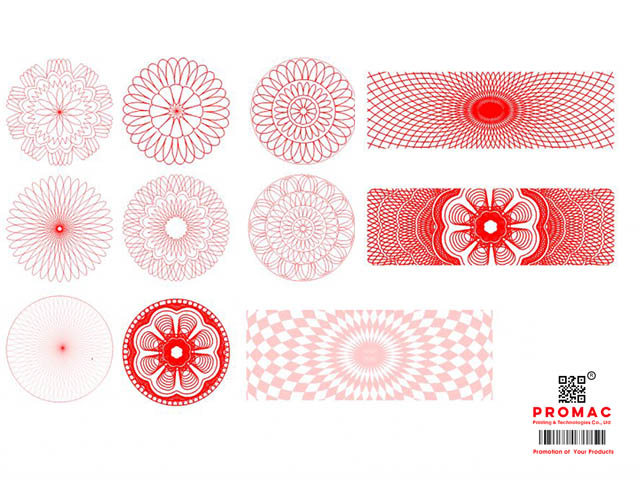 các mẫu hoa văn tem vỡ