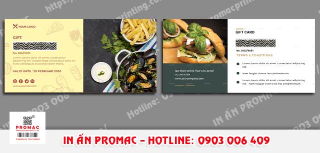 in thẻ cào cho cửa hàng ăn uống