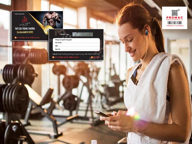 in thẻ cào cho phòng gym