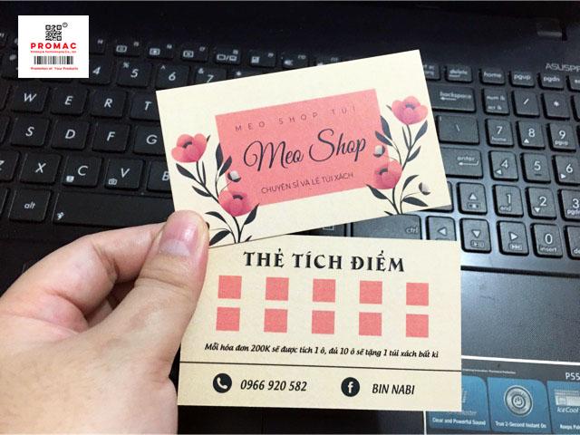 thẻ tích điểm shop quần áo